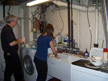 Basement Dishwashing in a 1939 House