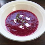 Chilled Apple Beet Soup