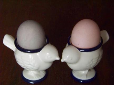 Pink Natural Egg Dye Results