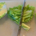 Cutting Napa Cabbage