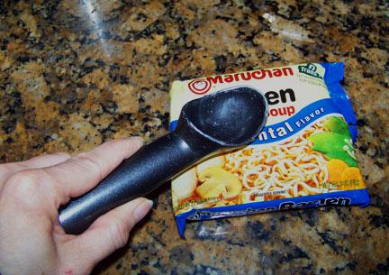 Smashing Ramen Noodles