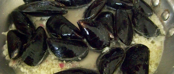 Simple Mussels in Wine