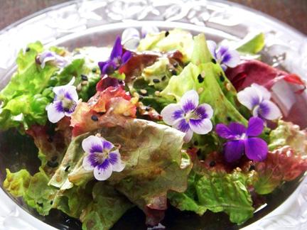 A Locavore's Challenge: Ginger Violet Salad