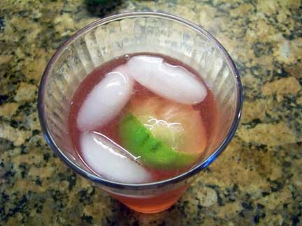 Cranberry Fizz with Lime