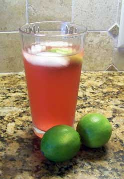 Lime Cranberry Fizz