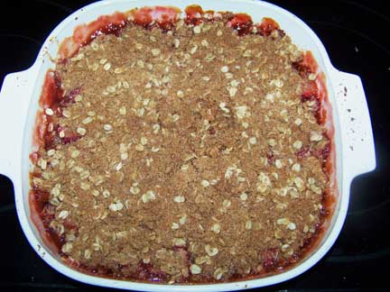 Baked Strawberry Rhubarb Crisp