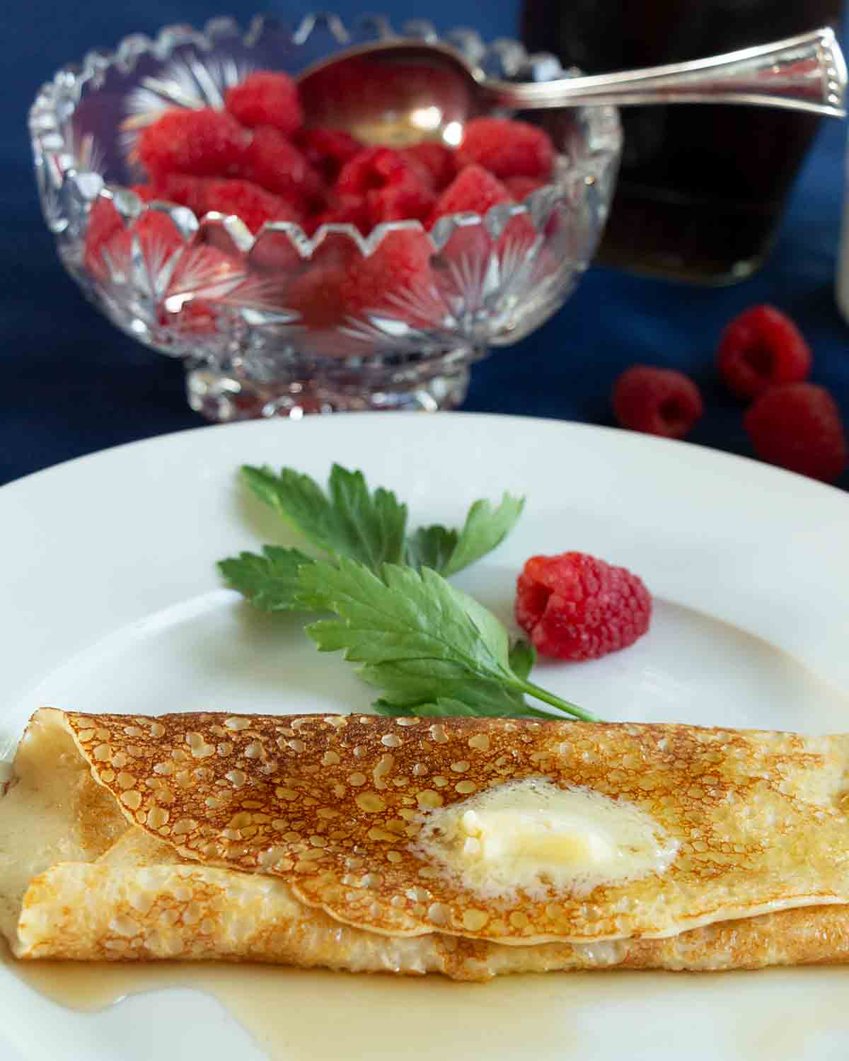 Tender, delicious Swedish Pancakes are a special treat for breakfast, dessert or even dinner. Made in a blender, they are ready in minutes.