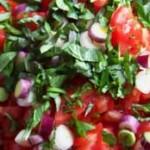 Tomato Basil Feta Salad