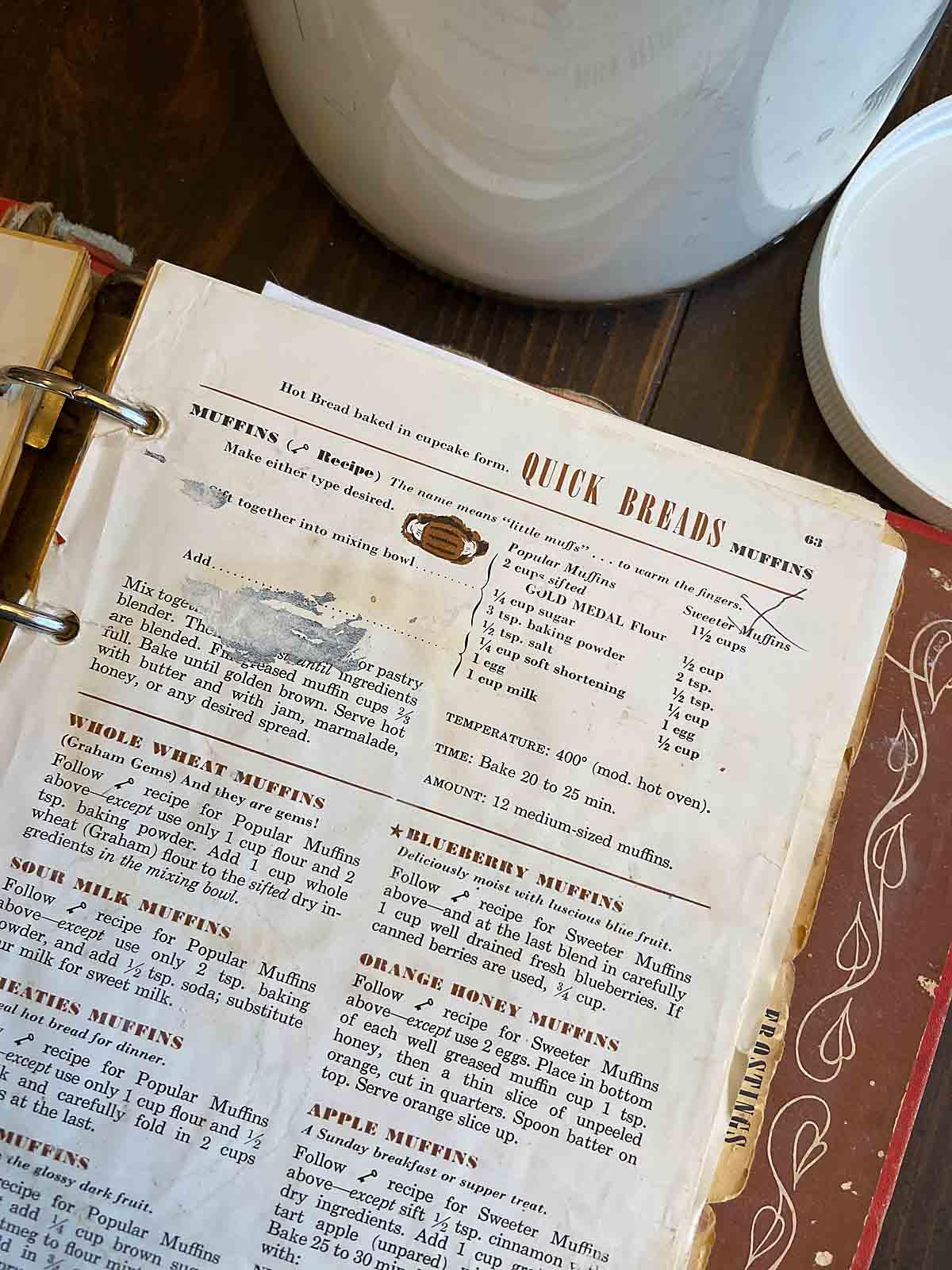 The original cookbook, all maarked up