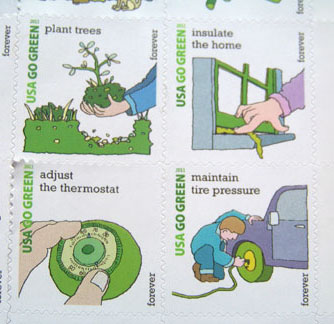 Green Postage Stamps