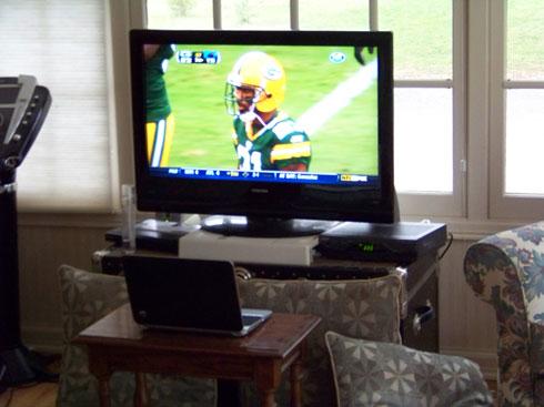 Watching Packers via Skype