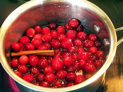 Cranberries, cooking