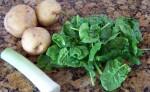 Favorite Fall Soup:  Spinach Potato Leek
