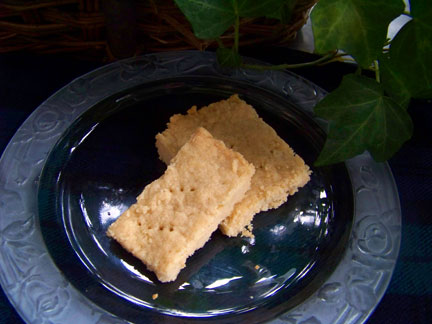 Shortbread Cookie Snowflakes… or Squares… or Thistles if You Are Lucky