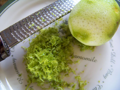 Lime Zest and Microplane