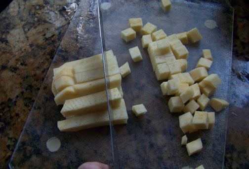 Cubing Rutabaga