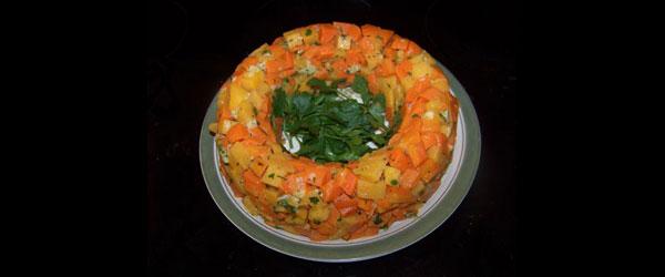 Cheesy Carrot Rutabaga Ring
