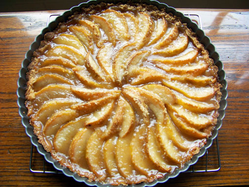 Pear tart recipe dishmaps for Apple pear recipes easy