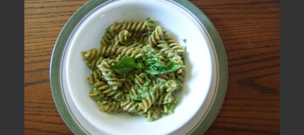 Arugula Pesto with Spring Garlic