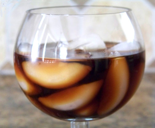 Iced Coffee in Brandy Glass