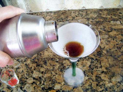 Strain and Serve Iced Martini