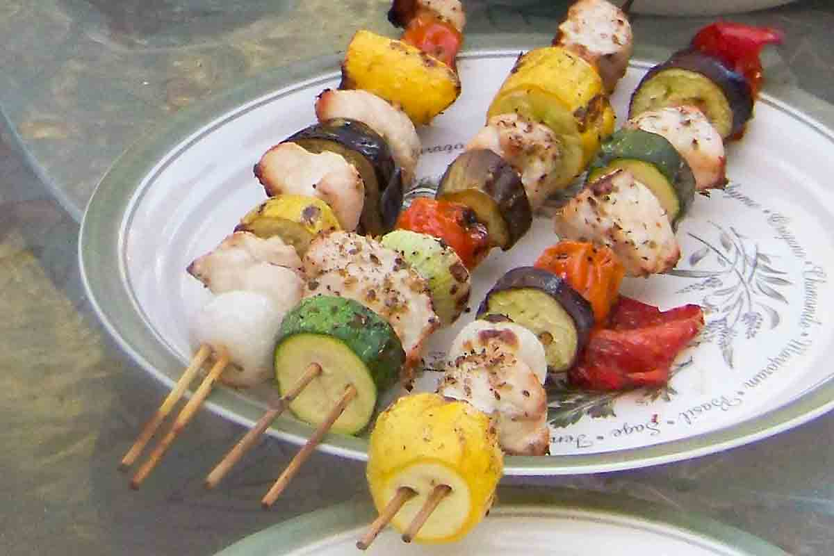 two skewers helps stability