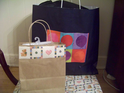 Homemade Baby Shower Gift Bags