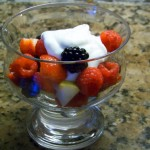 Fresh Fruit with Coconut Rum Sauce