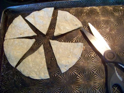 Cut Tortilla into Six