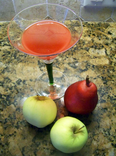 Jack Rose Cocktail with Fall Fruit