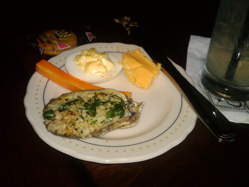 Oysters Rockefeller at Joey Gerard's