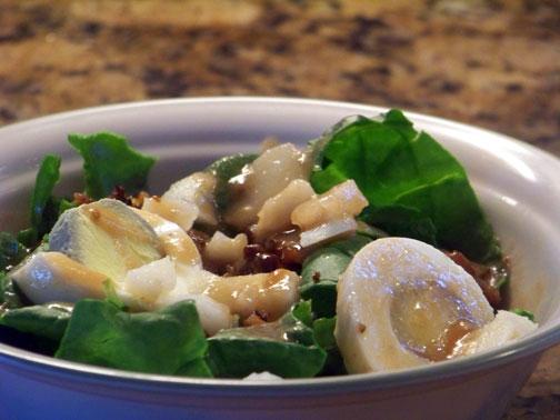 Spinach Salad Closeup