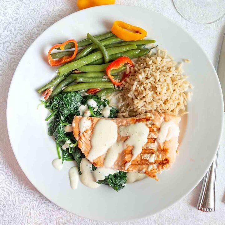 Easy Salmon Florentine