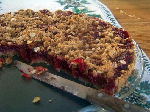 Cranberry Tart Cut