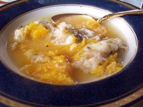 Pumpkin Leet Soup Served