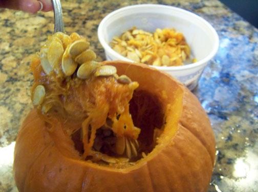 Remove Pumpkin Seeds