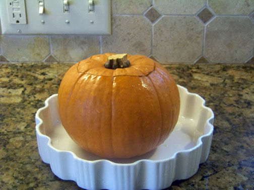 Soup in a Pumpkin Oven Ready