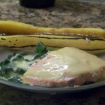 Easiest Salmon Florentine (with Blender Hollandaise)