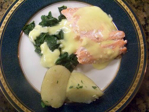 Salmon Florentine with Parsley Potato