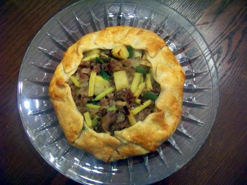 Savory Pork & Mushroom Galette