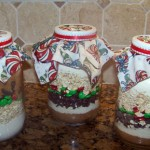 Christmas Cowboy Cookies in a Jar