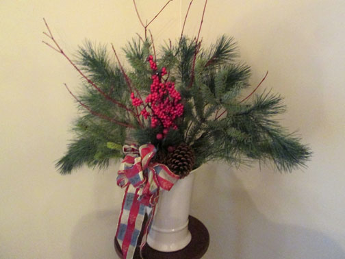 Winter Pine Branch Arrangement