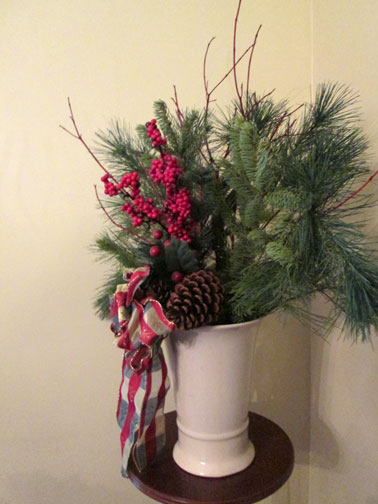 Side View Pine Branch Arrangement