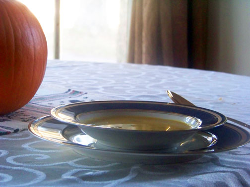 Curried Pumpkin Mushroom Soup