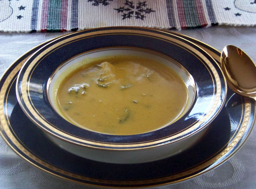 Bowl of Curried Pumpkin Mushroom Soup