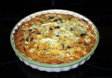 Quiche, good; Strata, not so much