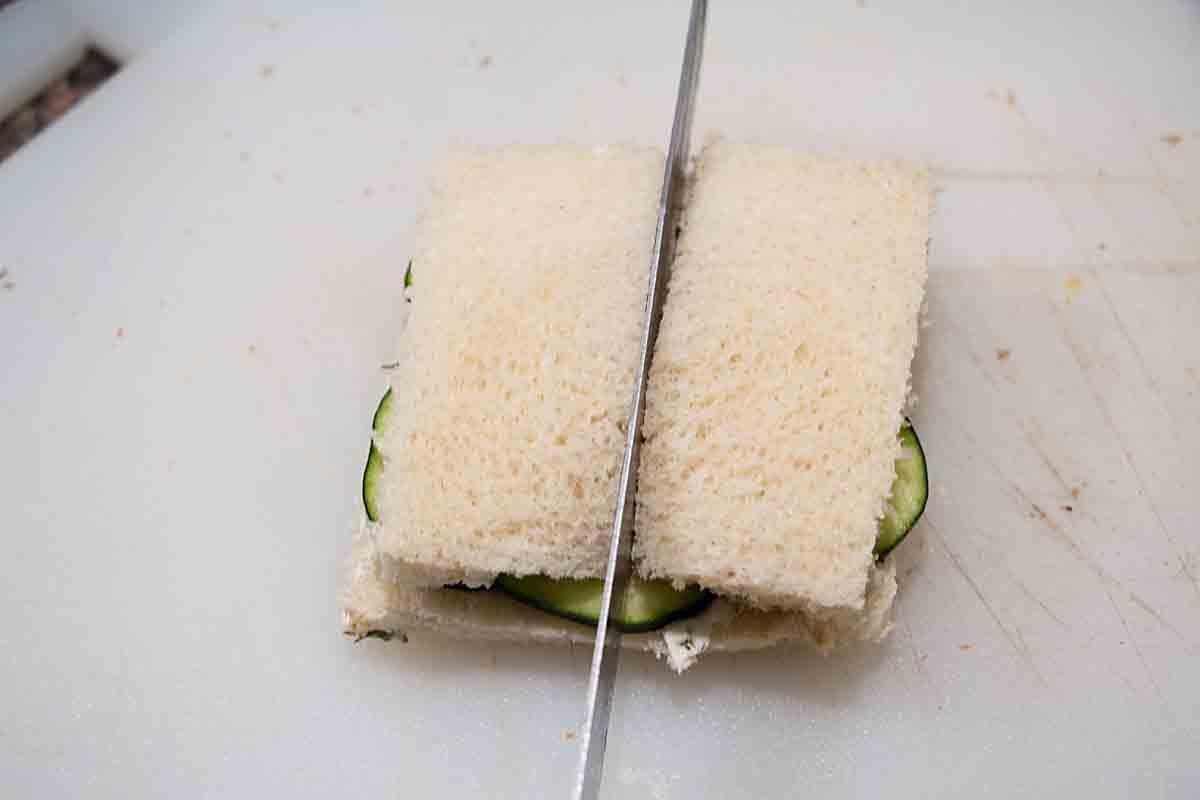 Cut Cucumber, Dill & Cream Cheese Tea Sandwiches