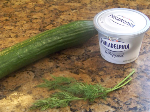 cucumber dill and cream cheese