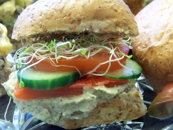 Baba Ganoush Vegan Slider
