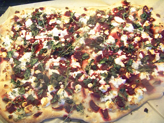 Pickled Beet and Kale Pizza
